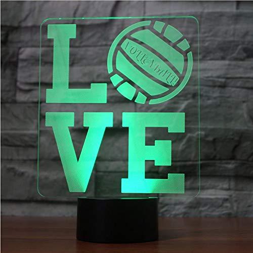 Love 3D Lampe Led 7 Capteur De Changement De Couleur À Distance Lettre 3D Night Light Home Room Décoration Lampe De Bureau Enfant Cadeau