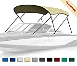 Leadpro 10 Optional Colors 13 Different Sizes 3-4 Bow Bimini Top Boat Cover (Sand, 4 Bow 8'L x 54' H x 91'-96' W)