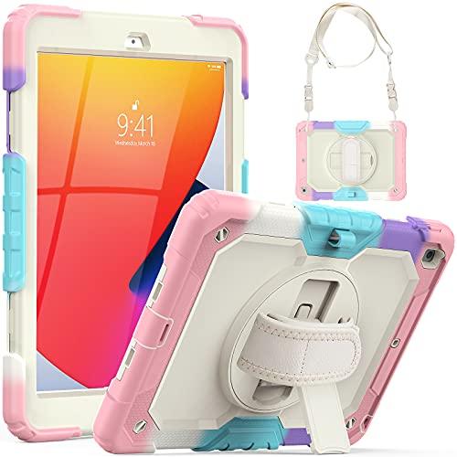 SEYMCY iPad 8th/7th Generation Case 10.2 inch for Kids, Full Body...