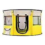 VISZC Pequeña tienda de campaña para mascotas portátil, para ejercicio al aire libre, valla para patio con cubierta superior, valla antiescape, para gatos y conejos
