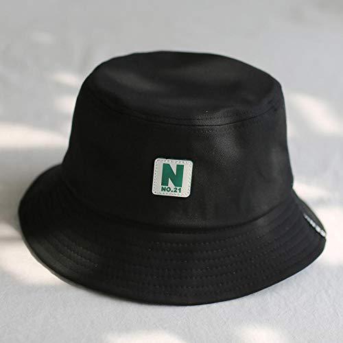 QIANWEIXI Gorros De Pescador Hombre Sombrero De Cubo Verde Sombreros De Pescador Hombres Mujeres Exterior Verano Calle Hip Hop Bailarina Algodón Ciudad Sombrero