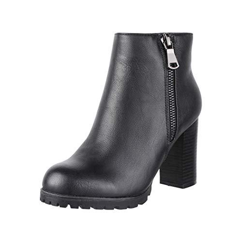 Elara Damen Stiefeletten Ankle Boots Chunkyrayan 2018 C223-Black-38