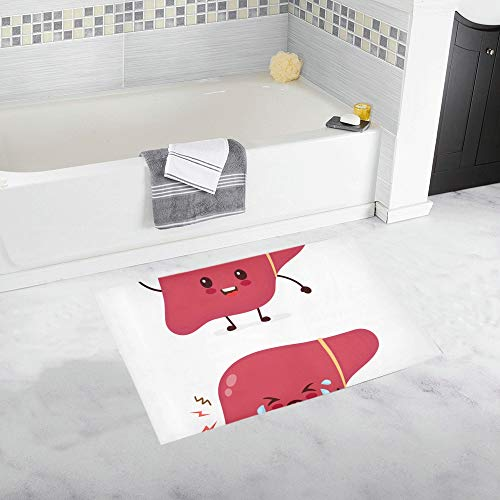 Soft Non-Slip Best Bathroom Decor Sad Sick Unhealthy Cry Healthy Strong Bathroom Mat Inside Rug Kids Bathroom Absorbent Microfiber Baby Girl Bathroom Rug Machine Wash 20x32inch