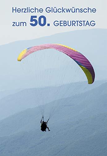 Butzon & Bercker Glückwunschkarte 'Herzliche Glückwünsche zum 50. Geburtstag' (6 STK)
