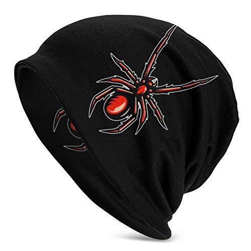 Gorro de Lana para Hombre, Mascota de araña venenosa, Gorro de Punto, Sombreros Suaves y cálidos, Negro