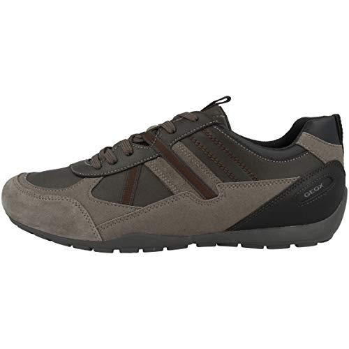 Geox Zapatillas bajas U Ravex A para hombre, color Marrón, talla 42 EU