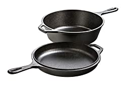 Lodge Cast Iron Combo Cooker Set at Amazon