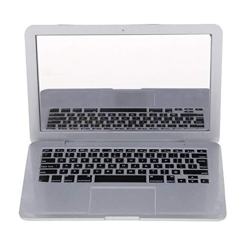 Gogogo Schminkspiegel ABS Laptop Notebook Form Tragbar Kompaktspiegel Silber