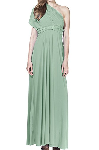 Women's Transformer Convertible Multi Way Wrap Long Prom Maxi Dress V-Neck Hight Low Wedding Bridesmaid Evening Party Grecian Dresses Boho Backless Halter Formal Cocktail Dance Gown Turquoise X-Large