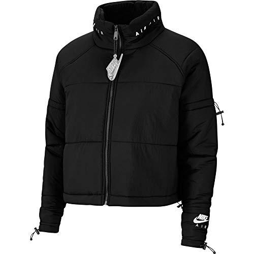 Nike Chaqueta Air Synthetic-Fill para mujer, color negro y blanco blanco/negro M