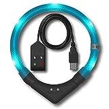 LED Leuchthalsband LEUCHTIE Plus Easy Charge türkis Größe 50 aufladbar