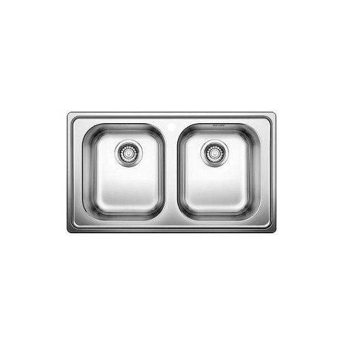 Blanco Lavello a Due Vasche Sopratop BLANCODINAS 8 in Acciaio Inox da 86cm