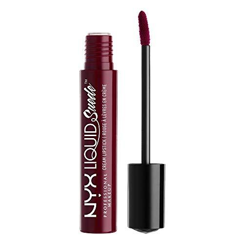 NYX Professional Makeup Lippenstift - Liquid Suede Cream Lipstick, samtig-weicher Creme-Lippenstift, aufregend mattes Finish, 4 ml, Vintage 12