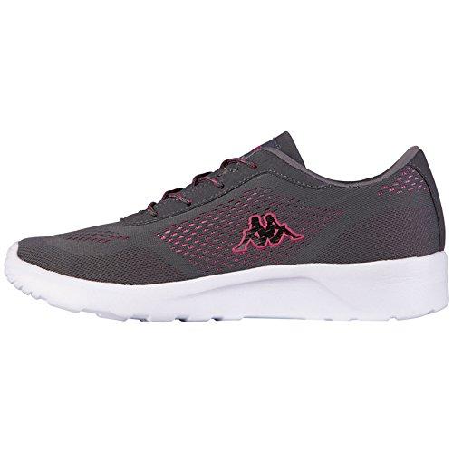 Kappa Damskie buty sportowe Delhi Footwear unisex, z siateczką, szary - szary 1322 Anthra Pink - 39 eu