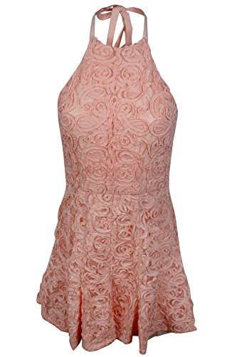 BCBG Maxazria Basanti Light Shell Pink Floral Dress 6