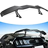 Universal Trunk Wing Spoiler Matte Black for Mazda 3/6/Protégé/RX7 RX8/ MX5 NB miata for acura integra for Porsche Boxster for Audi A4 A6 A8 High Kick V Style Rear Spoiler Wing Tail Lid(61.8inches)