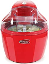 Maxi-Matic, Automatic Easy Homemade Electric Maker, Ingredient Chute, On/Off Switch, No Salt Needed, Creamy Ice Cream, Gelato, Frozen Yogurt, or Sorbet, 1.5 Quart, Red