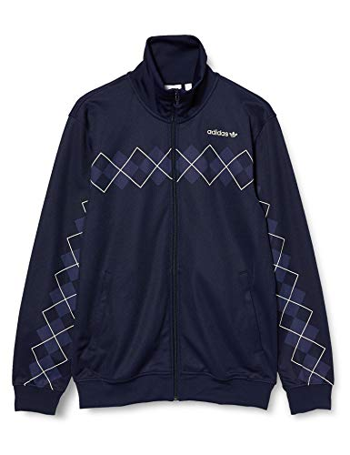 adidas Herren Argyle Tracktop Sweatshirt, Night Indigo, M