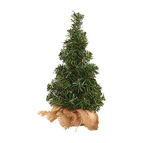 albero di natale 30 cm Outflower. 1pcs Artificiale Mini Albero di Natale Base in Lino Piccolo Albero di Natale Decorazione da tavola Decorazioni Natalizie Adatte per la Decorazione del Centro Commerciale di casa Size 30CM