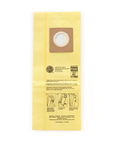 Hoover Commercial AH10243 Upright Bags for HushTone, Allergen Filtration (Pack of 10), Yellow