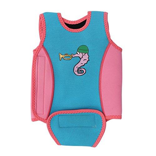 Traje de Baño para Bebés Chaleco de Natación Wrap Wetsuit Toddler Aprende a Nadar de una Pieza
