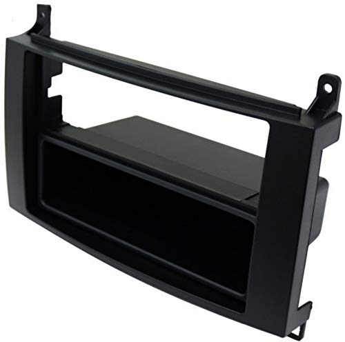 AERZETIX: Marco Adaptador 1 DIN Cubierta plástica Moldeado para el Cambio de autoradio Original con un Radio estándar del Coche vehículos automóvil