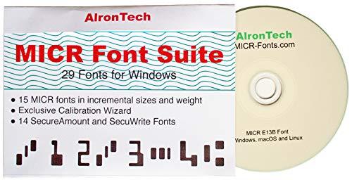 Price comparison product image MICR Font Suite : 15 MICR E13B ,  14 Secure.