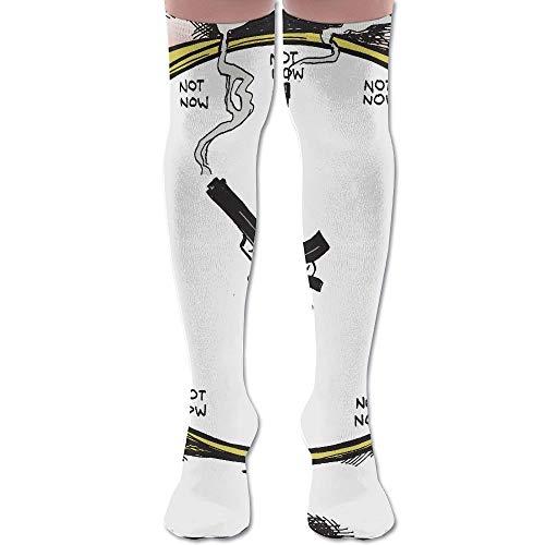 Sniper Reloj despertador de algodón sobre la rodilla calcetines altos muslos calcetines largos tubo calcetines