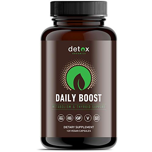 Detox Organics Daily Boost - Metabolism Booster and Thyroid Supplement Made from Green Tea Extract - Promotes Energy Increase - 120 Capsules
