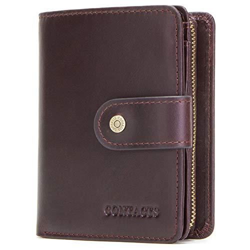 YQHHG Billetera Multifuncional para Hombres, Embrague De Hebilla De Cuero, Billetera Elegante para Hombres con Barrera, Adecuada para Regalar, Beneficios De Oficina, Regalos Empresariales,Brown2