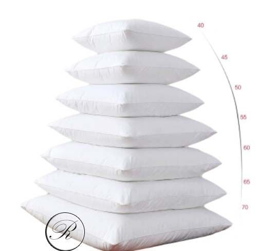 65cm x 65cm Cushion Pad Pillow Insert Inner, Hypoallergenic Polyester Cushions by Rohi (Set of 2 | 26' x 26')