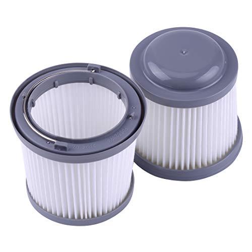 Filtro lavable 2pcs Fit para Black Decker Dust Buster pvf110phv1210pv1020l pd11420l plástico longitud total 8cm