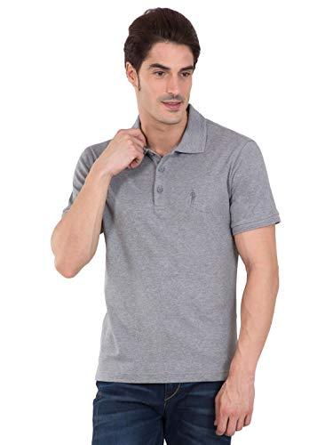 Jockey Men's Regular Fit T-Shirt (3912-103_Grey Melange_Large)