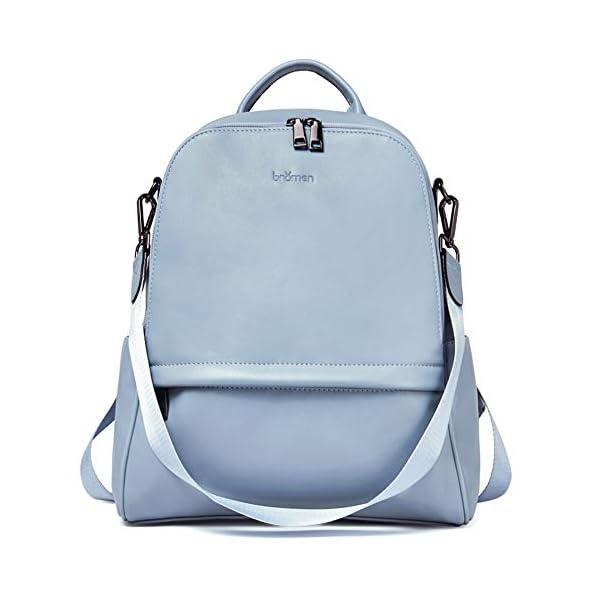 BROMEN Backpack Purse for Women Leather Anti-theft Travel Backpack Fashion College Shoulder Handbag 1