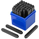 Stark Professional 1/4' inch Stamping 36-Piece Tool Kit Alphabet Letter Numbers Symbols Steel Embossing & Engraving Stamp Imprinting Metal
