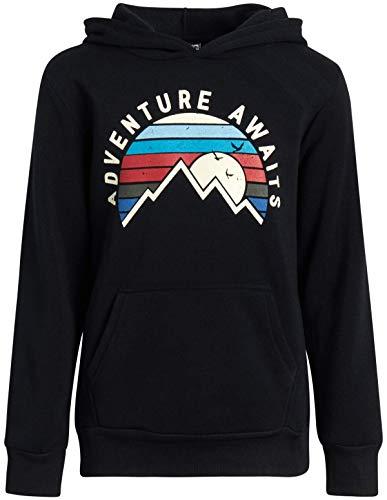 TONY HAWK Boys' Sweatshirt - Fleece Pullover Hoodie, Black, Size 10/12