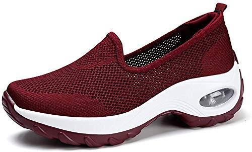Haizhe Zapatillas De Deporte Mujer Transpirables Malla Plataforma Ligero Zapatillas Sneaker Casual Zapatos Mocasines Talla EU 37 = CN 37