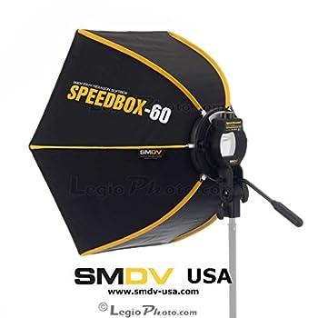 SMDV DIFF60 SPEEDBOX-S60 - Professional 24-Inch  60cm  Rigid Quick Folding Hexagonal Softbox for Speedlight Speedlite Flash