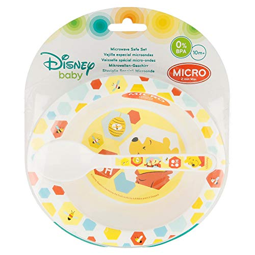 Winnie the Pooh enfant toddler 2 pcs micro set (micro bowl and micro pp spoon toddler)