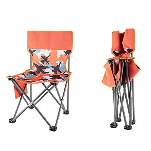 MYRCLMY Silla De Camping Plegable Ultraligera, Compacto Portátil para El Campamento Al Aire Libre, Viajes, Playa, Picnic, Festival, Senderismo, Mochilero Ligero,Naranja,M