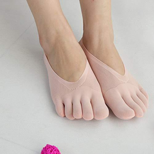 ERHETUS Calcetines de las mujeres ultrafinos transpirables de las mujeres del dedo del pie calcetines poco profundos de la boca sigilo barco