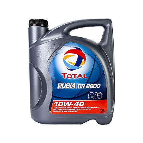 Total Lubricante de aceite de motor Rubia Tir 8600 10W-40 5L...