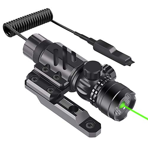 Feyachi GL6 Tactical Green Laser Sight with Versatile Mounting ML87 Mlok Rail Mount and Pressure Switch