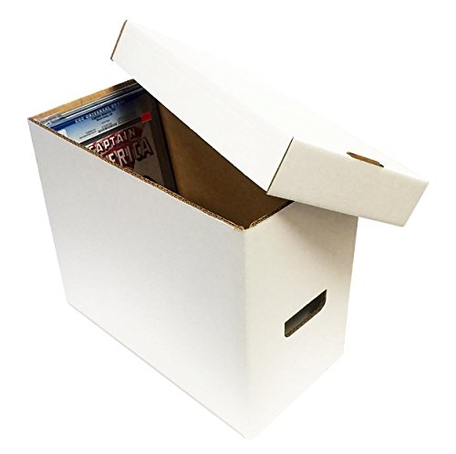 (2) Graded Comic Storage Boxes - Holds 35-40 Graded Comic Books - WHITE by Max Pro