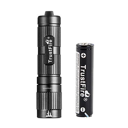 TrustFire Mini3 Mini Linterna Led con Llavero máx.350 lúmenes con Batería de Iones de Litio 10440