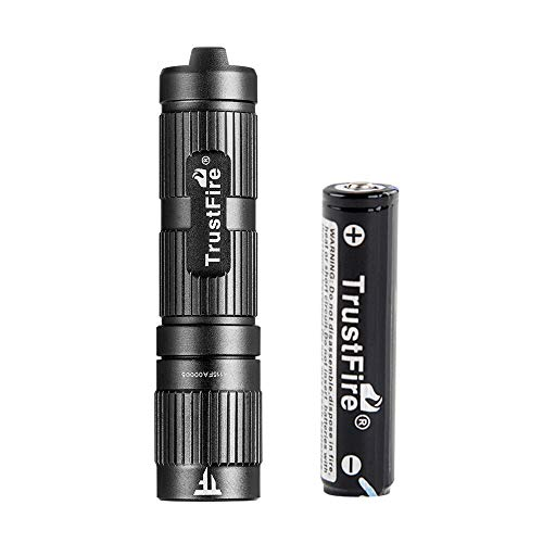 TrustFire Mini3 - Mini linterna LED con llavero (máx. 350 lúmenes, con batería de ion de litio 10440)