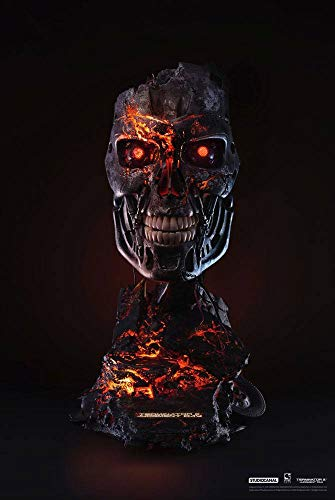 Pure Arts Terminator 2: Judgment Day Replica 1/1 T-800 Endoskeleton Mask Battle Damaged Version 46 cm