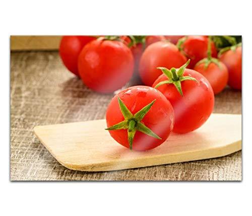 Acrylglasbilder 80x50cm Tomate rot Tomaten Küche gemüse Obst Kochen Acryl Bilder Acrylbild Acrylglas Wand Bild 14H875