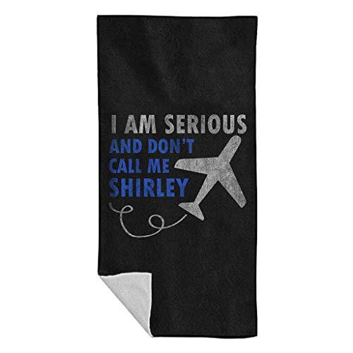 Cloud City 7 Ik ben serieus en bel me niet Shirley Airplane Beach Towel
