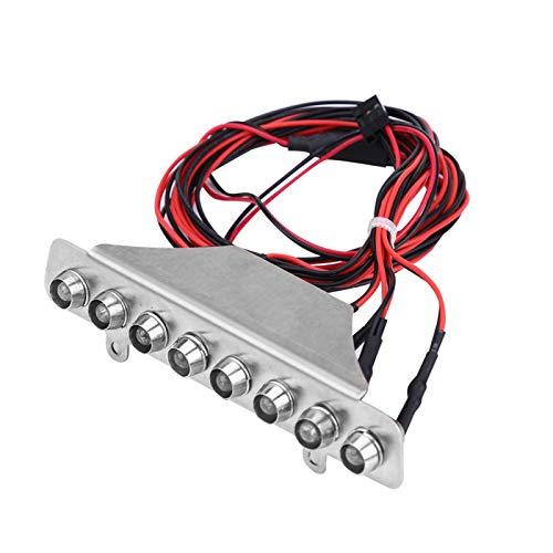 Dilwe 8 LEDs Barre Blanc Rouge Feu Arrière Lampe Accessoire pour TRAXXAS UDR 1/7 Camion RC Voiture